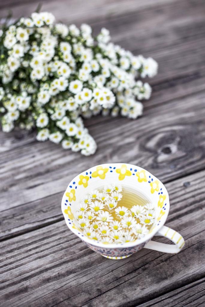 Tea cup with flowers - Embellece Té