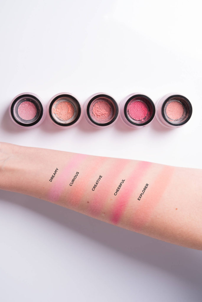 Trucos de maquillaje-productos de doble uso-Alice in Beautyland Blog-Swatches Blusher Blush Me - Muestras