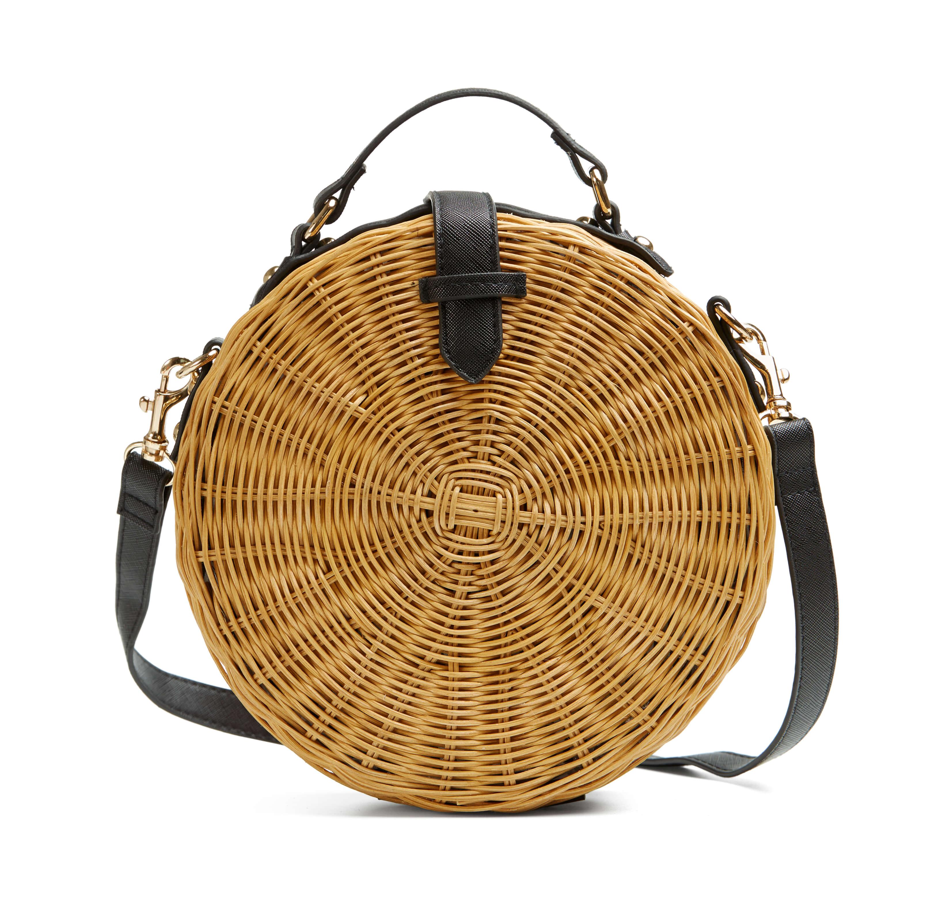 Las tendencias de moda para esta primavera-ALICE IN BEAUTYLAND-Bolsos- Mango- Cofre de Bambu