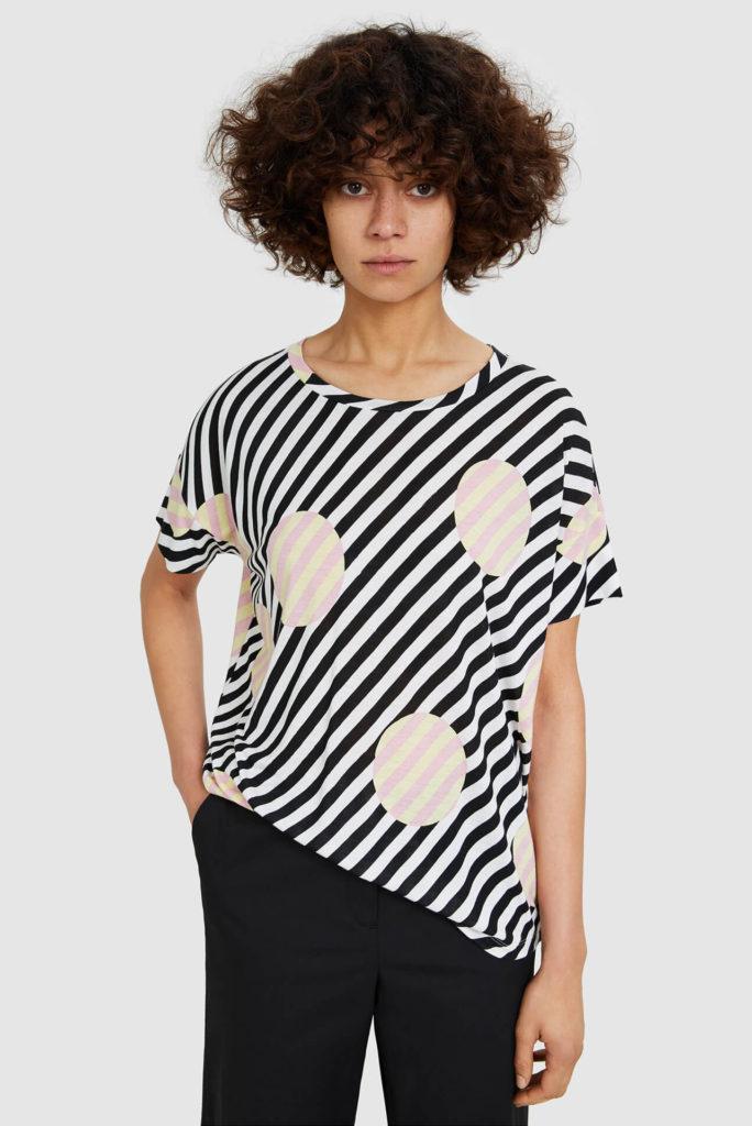 Las tendencias de moda para esta primavera-ALICE IN BEAUTYLAND-MEZCLA-Bimba y Lola-Camisa a rayas & lunares gigantes