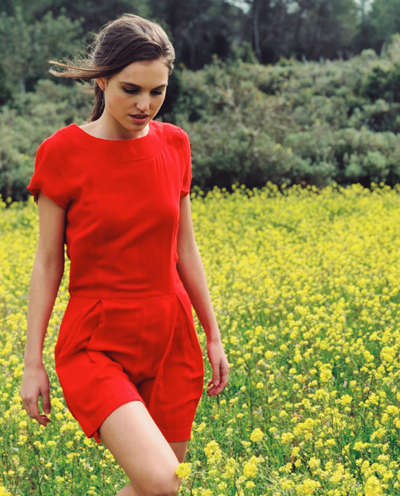 Las tendencias de moda para esta primavera-ALICE IN BEAUTYLAND-Monos-Biscuit-Mono Rojo