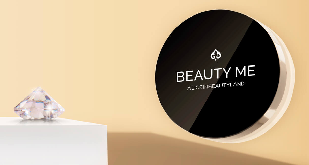 Beauty me makeup mineral foundation with a diamond