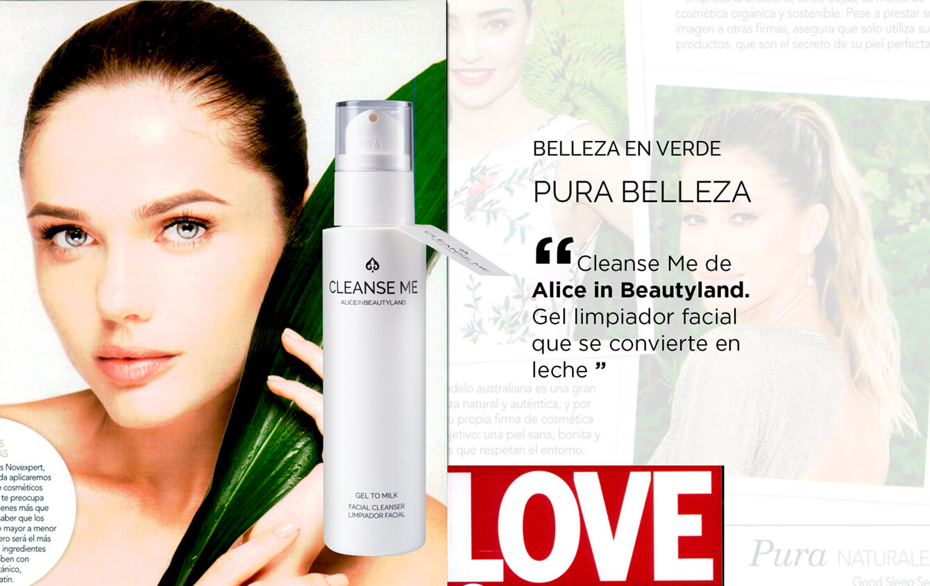 """LOVE » """"Cleanse Me de Alice in Beautyland. Gel limpiador facial que se convierte en leche"""""""